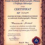 Certyfikat trenera personalnego z Łodzi