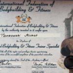 Certyfikat trenera personalnego IFBB